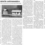 Nei Pressi di Pecorara è in fase di realizzazione un osservatorio, sogno ti tanti astrofili.