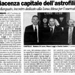 Castellarquato, incontro dedicato alla Luna. Attesa per l'osservatorio.