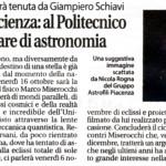 La prima conferenza sulle stelle sara' tenuta da Giampiero Schiavi.