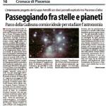 Parco della Galleana cornice ideale per studiare l'astronomia.