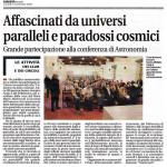 Grande partecipazione alla conferenza di Astronomia.