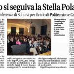 Interessante conferenza di Schiavi per il ciclo di Politecnico e Gruppo Astrofili.