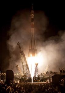 Il razzo Soyuz alla partenza