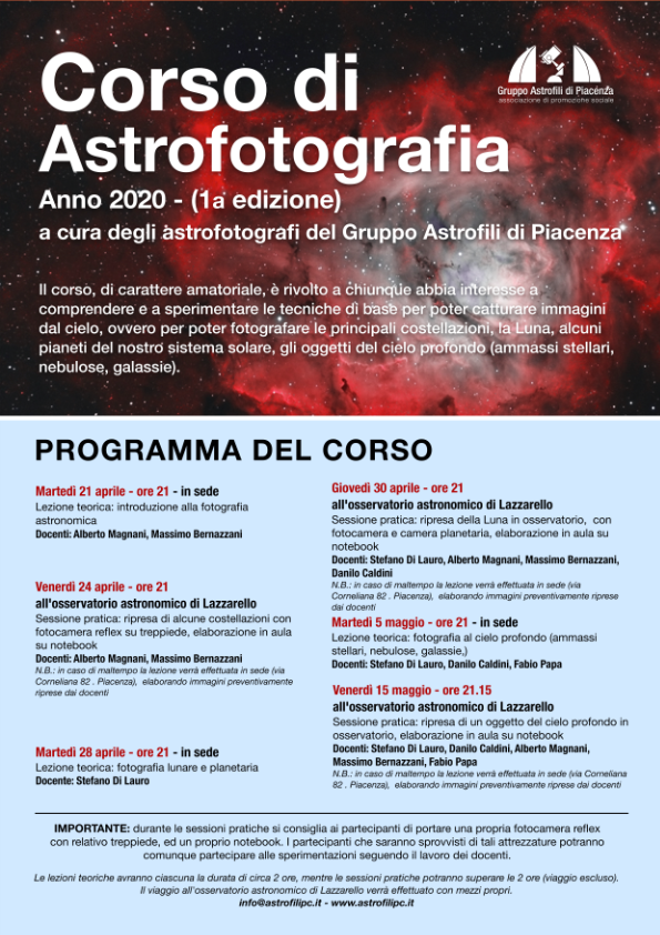 corso astronomi filosofi